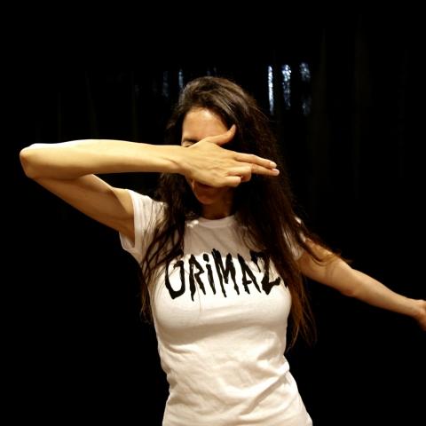 Grimaze Female Logo T-shirt White